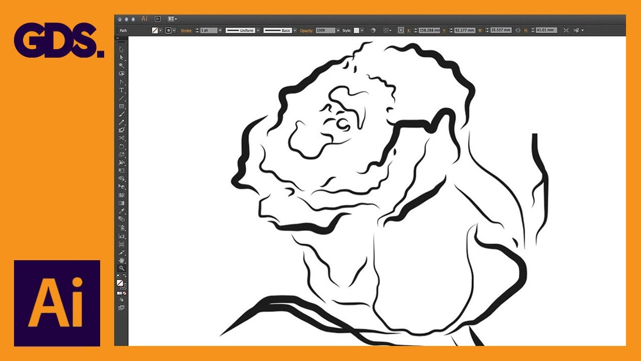 Drawing Lines With The Pen Tool : Drawing with the pen tool pencil brush ep