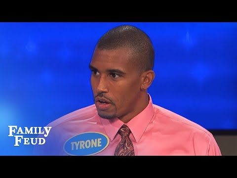 OUTRAGEOUS Clip! Tyrone gets VERY handy! | Family Feud