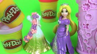 Disney Magic clip Rapunzel Princess Dress Up Play Doh Princess Play with Garden Tower