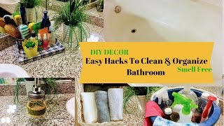 Bathroom Organization and Storage/Cleaning  Ideas+ DIY Decor ll ReallIfe RealHome