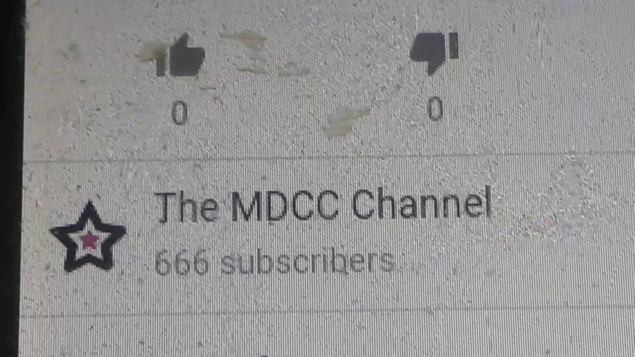 The mdcc channel has 666 subscribers?!
