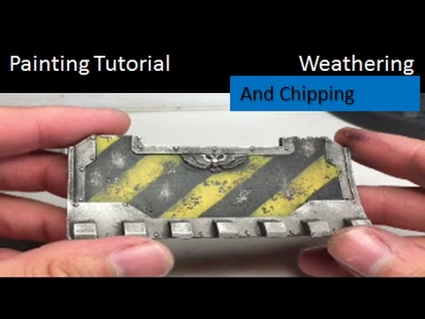Warhammer 40k Painting Tutorial How To Paint Hazard Lines Tank Weathering Chipping Dozer Blade