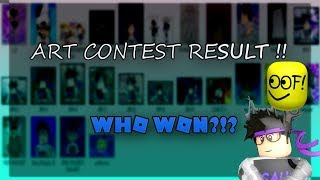 ROBLOX ART CONTEST!! WHO WON THE ROBUX