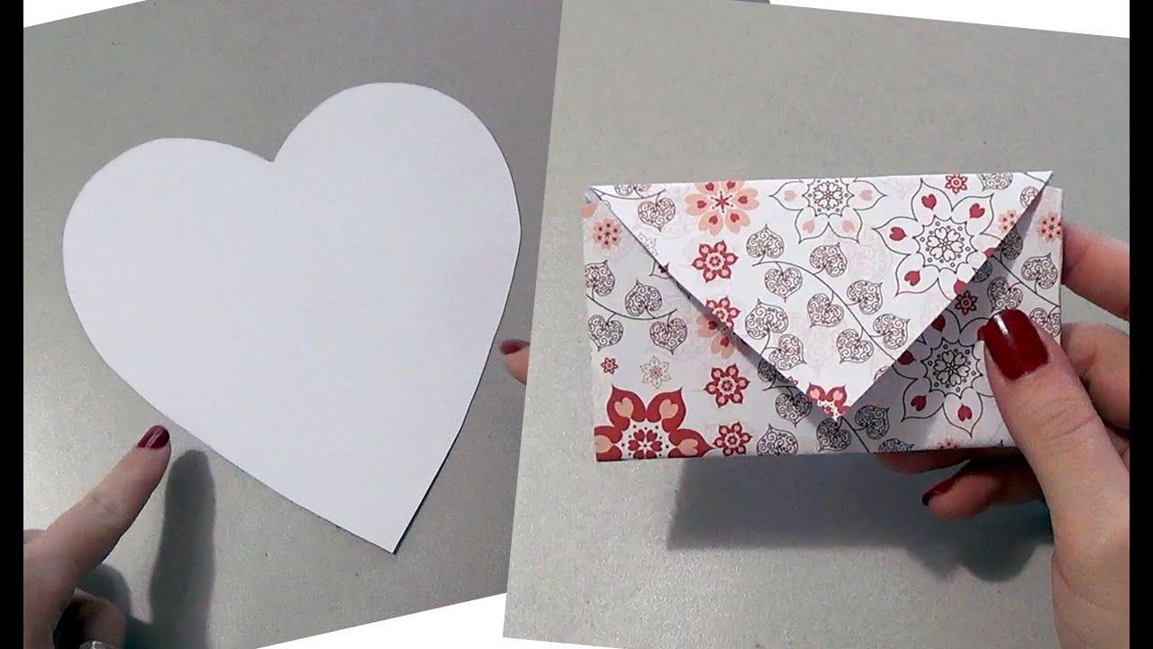 Estremamente TUTORIAL: come fare una BUSTA DA UN CUORE (San Valentino - DIY  PW08