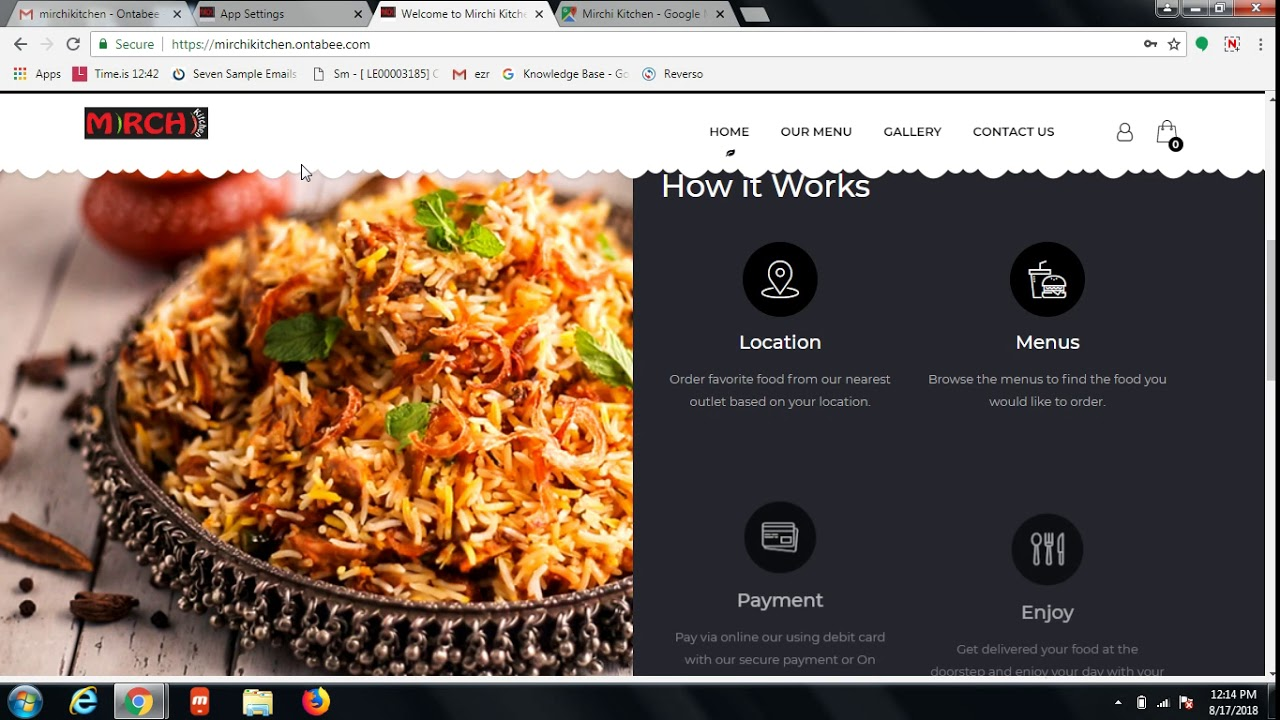 Online Food ordering software admin dashboard for restaurant business