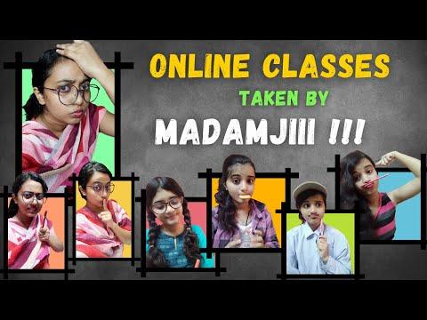 online-classes-by-madamji-(part-1)-||-lockdown-days-||-quarantine-er-goppo-ep-01-||-jhiki-miki