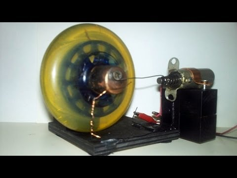 Toy solenoid ac dc motor engine using a scooter wheel for Simple toy motor project