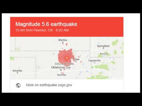 oklahoma earthquakes - 9/3/16 oklahoma earthquake