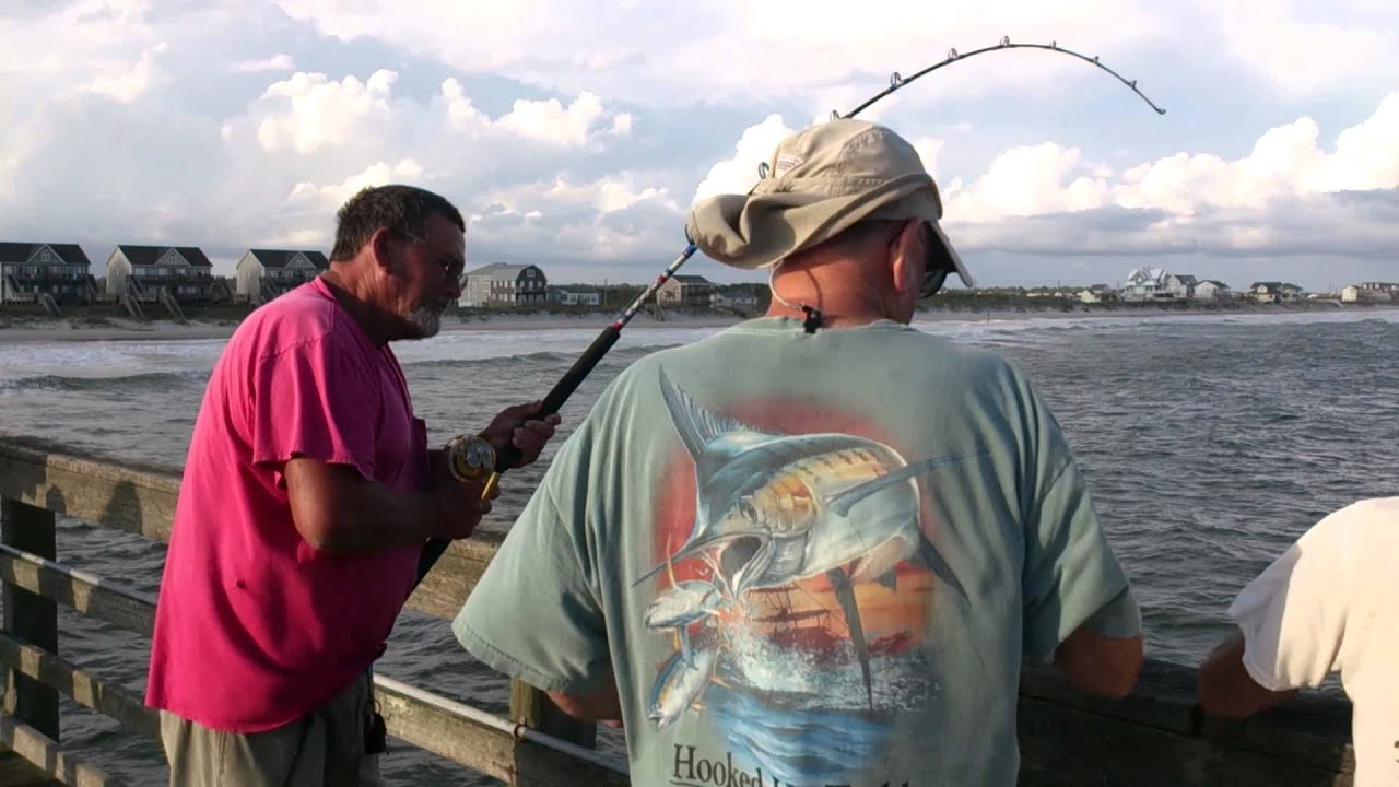 Randy catching a 60 70 pound tarpon and breaking it off at for Seaview pier fishing report