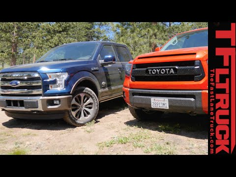 2017 Ford F 150 Fx4 Vs Toyota Tundra Trd Pro Off Road Mashup Review