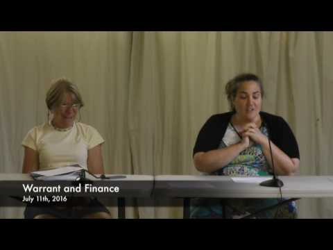 Warrant and Finance - 07-11-2016