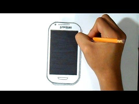 cmo dibujar telefono samsung galaxy mini  YouTube
