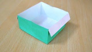 Cara membuat Kotak. Origami. Seni melipat kertas.