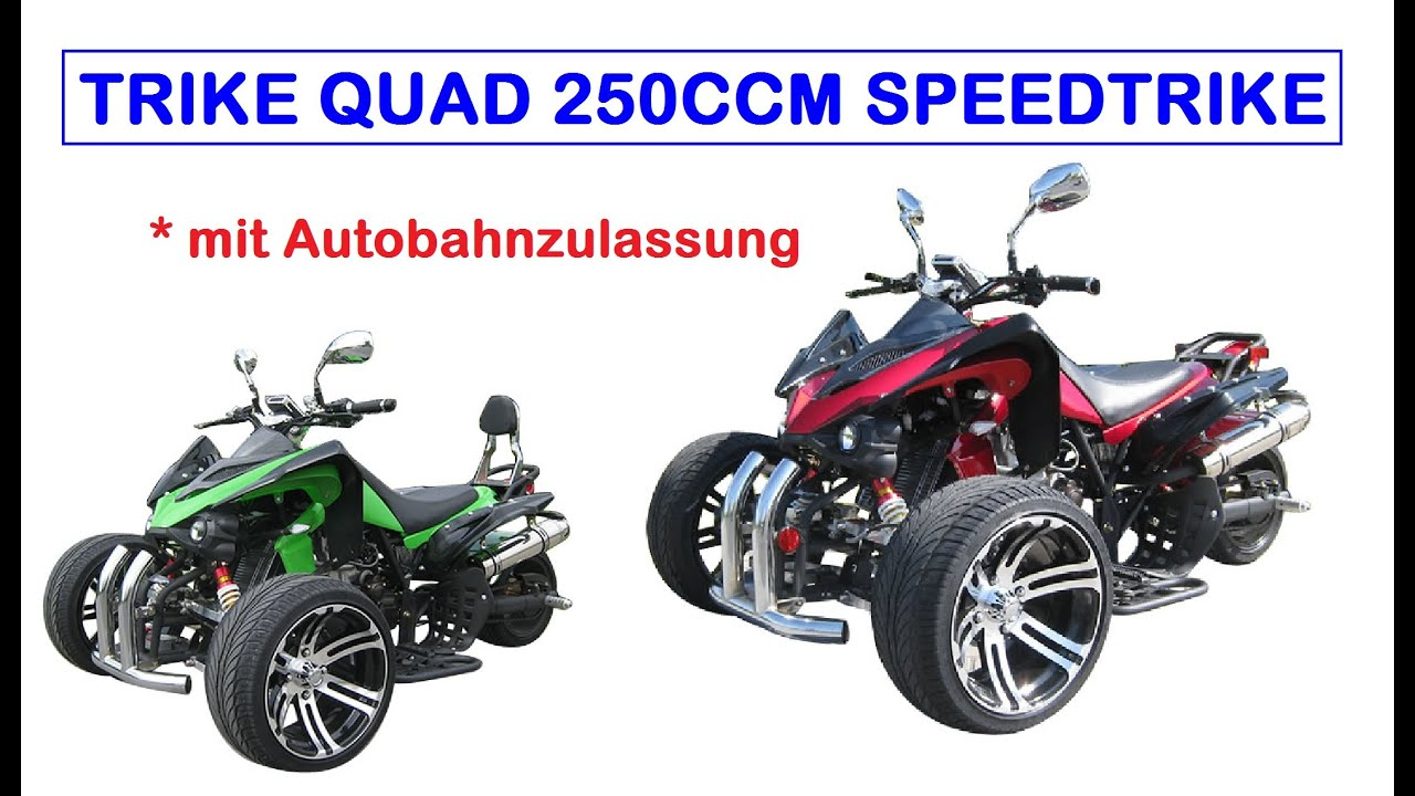 quad trike 250 ccm speedtrike carbon optik und stra enzulassung youtube. Black Bedroom Furniture Sets. Home Design Ideas