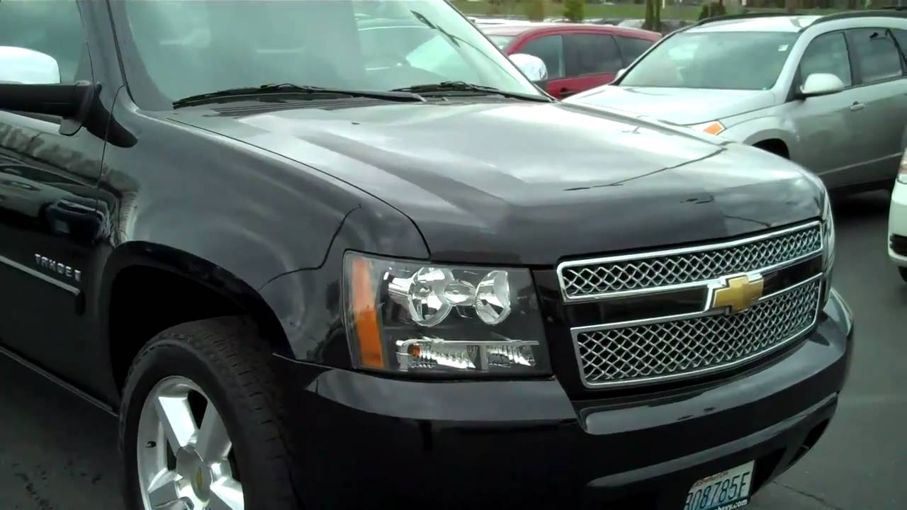 2007 Black Chevy Tahoe Ltz Youtube