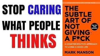 Die Subtile Kunst, Nicht Geben ein F*ck Von Mark Manson (HINDI) | Animierte Zusammenfassung