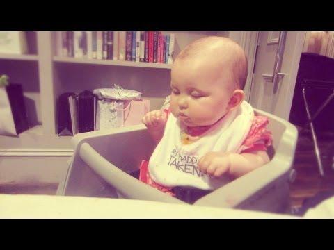 BABY FALLS ASLEEP AT PARTY!