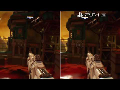 Doom VFR | PS4 VS Pro Comparison (Comparatif PSVR Muet) | VR Singe