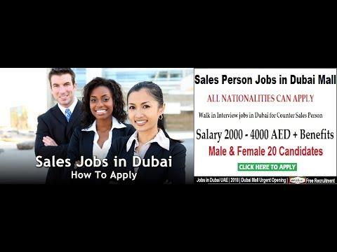 Sales Job in Dubai   The Dubai Mall   20 Male Candidate   Free Recruitment   2018..