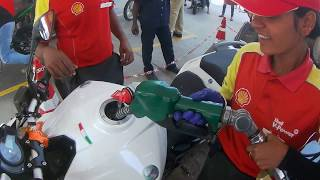 What happens FILLING RS 10 Petrol in Super Bike | PUBLIC REACTIONS| Funny video |