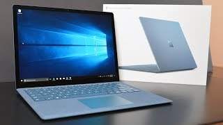 Unboxing and Review of the NEW Microsoft Surface Laptop in Cobalt B...