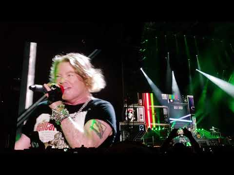 Guns and Roses play Welcome to the Jungle at Aloha Stadium Honolulu Dec 8 2018