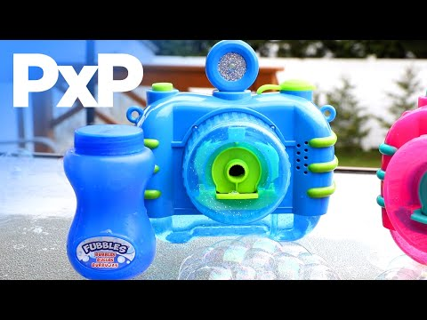 Create bubbly backyard memories with the Fubbles Bubble Camera! | A Toy Insider Play by Play