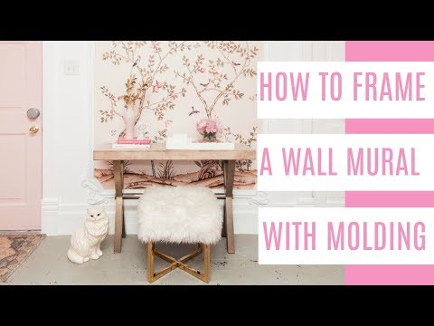 DIY how to frame a wallpaper mural with molding