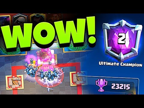 WOW #2 IN THE WORLD!!!  - CLASH ROYALE TOP LADDER DECK