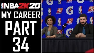 "NBA 2K20 - My Career - Let's Play - Part 34 - ""Gatorade GX Bottle Press Conference"""