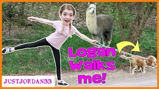 I Let My Dog Walk Me For A Day! / JustJordan33