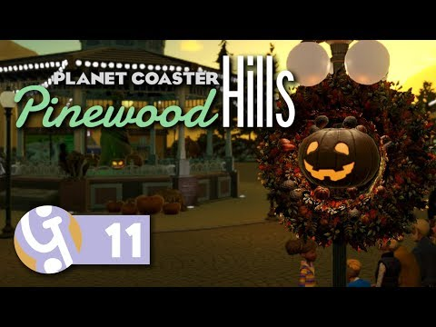 🎃 Halloween In Pinewood | Pinewood Hills | Let's Play Planet Coaster #11 |