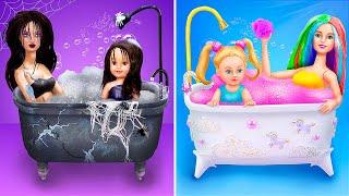 Gia Đình Cầu Vồng và Gia Đình Bóng Đêm / 10 Ý Tưởng Tự Làm Đồ Dùng Cho Búp Bê Barbie