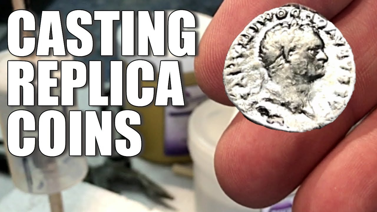 How to make a copy of a coin with a silicone mould
