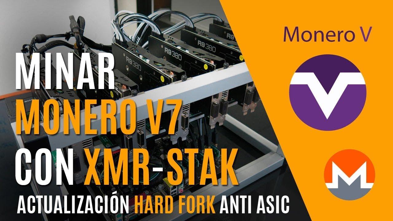Minar Monero V7 con XMR STAK - Hard Fork anti ASIC