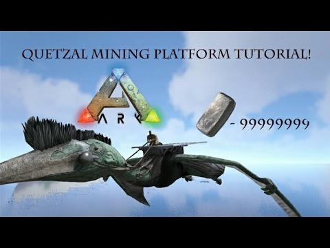 Ark - Infinite Quetz Metal Mining Platform Tutorial! -Ark Survival Evolved (Xbox One, PS4, PC)