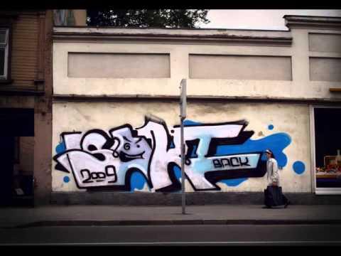Latvian graffiti artist saki.