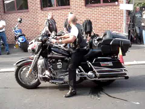 Harley Davidson Burnout Fail