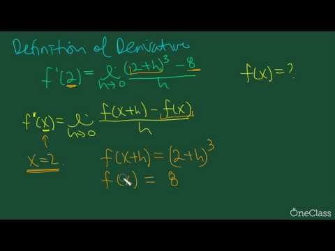 Calculus: Working the Definition of Derivative Backwards (MATH1A03 Past Exam) - OneClass