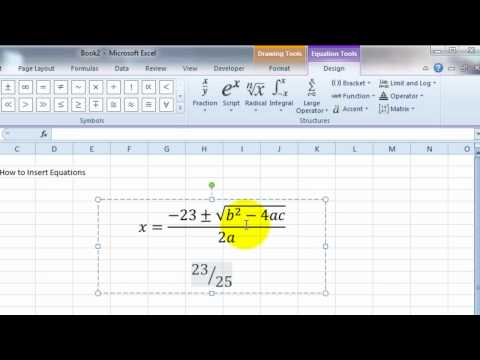 VideoExcel - How to insert Equations in Excel 2010