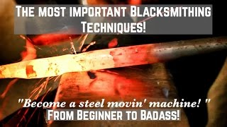 The Most Important Blacksmithing Techniques? How to Forge Tapers! The ESSENTIAL guide