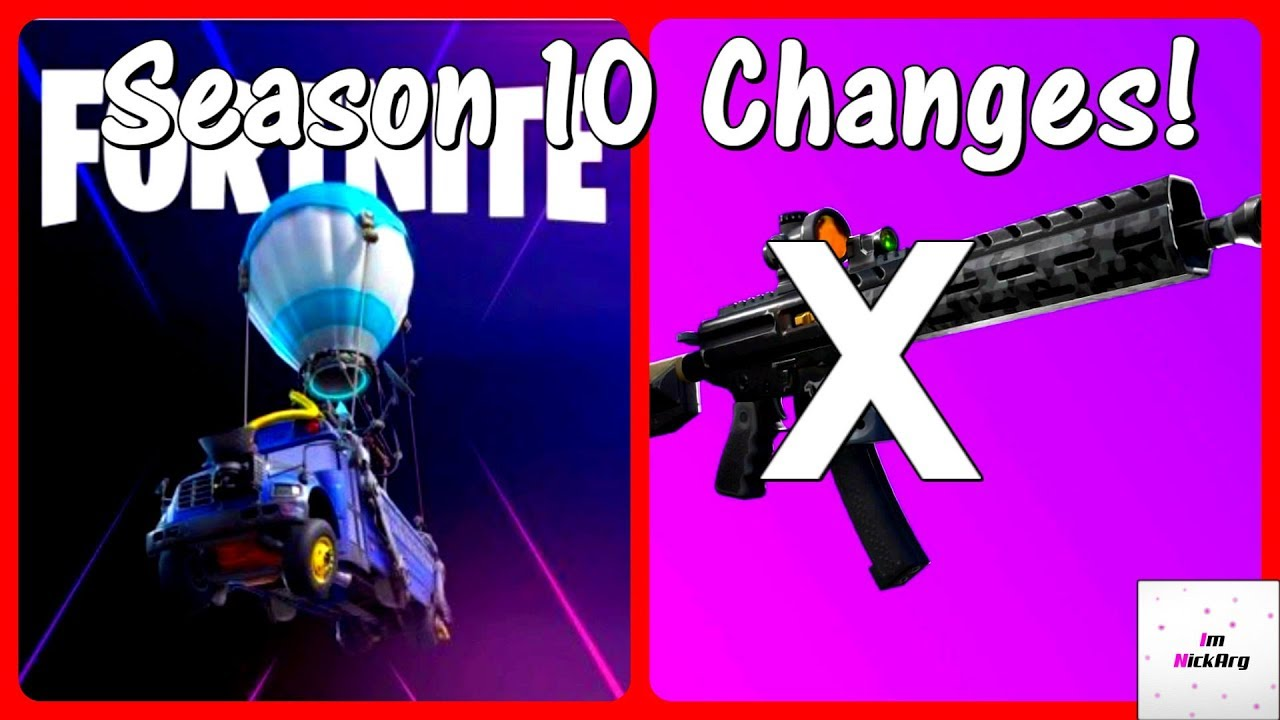 *NEW* Season 10 CHANGES! (Vaulted Weapons, Gameplay & MORE ...