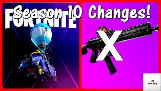 *NEW* Season 10 CHANGES! (Vaulted Weapons, Gameplay & MORE) | Fortnite Season X Patch Notes Overview