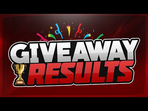 GIVEAWAY RESULTS! -
