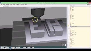 CNC Simulator Pro Tutorial Fresadora.