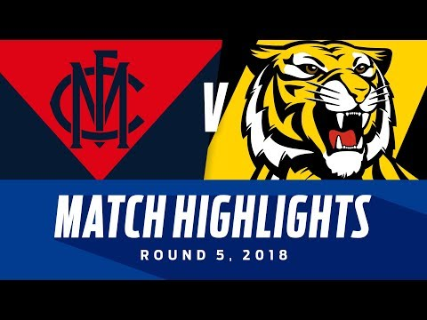 Melbourne v Richmond Highlights - Round 5 2018 - AFL