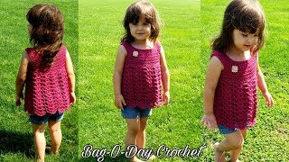 HOW TO #CROCHET A TODDLER  SHIRT | LIL