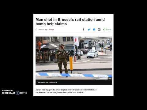 Man Shot In Brussels Rail Station Amid Bomb Belt Claims