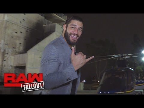 Roman Reigns boards a private chopper after Raw: Raw Fallout, Aug. 8, 2016