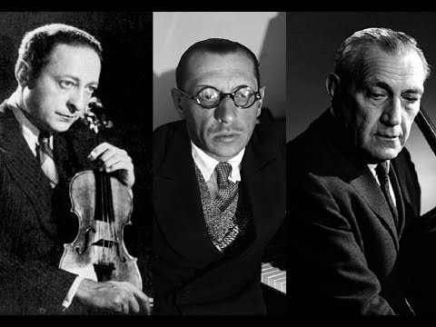 Stravinsky - Suite Italienne for Violin & Cello (after Pulcinella) - Heifetz, Piatigorsky, 1963